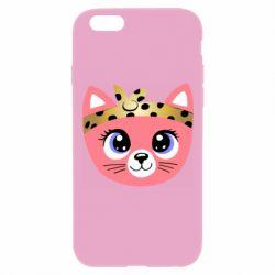 Чехол для iPhone 6 Plus/6S Plus Cat pink