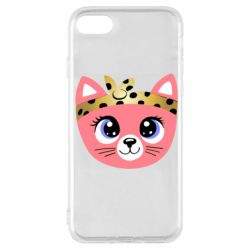 Чехол для iPhone 7 Cat pink