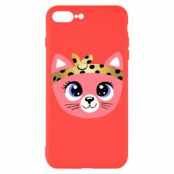 Чехол для iPhone 7 Plus Cat pink