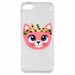 Чехол для iPhone5/5S/SE Cat pink