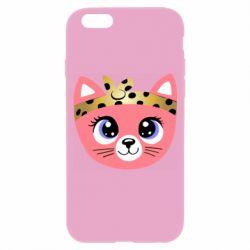 Чехол для iPhone 6/6S Cat pink