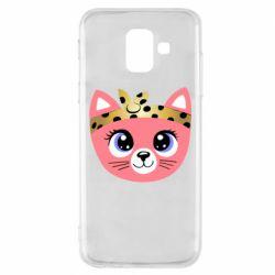 Чехол для Samsung A6 2018 Cat pink