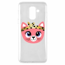 Чехол для Samsung A6+ 2018 Cat pink