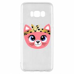 Чехол для Samsung S8 Cat pink
