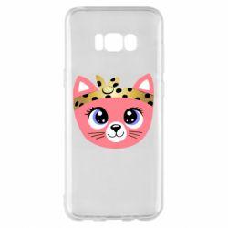Чехол для Samsung S8+ Cat pink