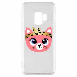 Чехол для Samsung S9 Cat pink