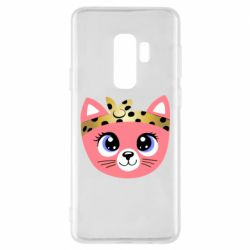 Чехол для Samsung S9+ Cat pink