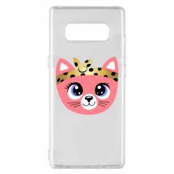 Чехол для Samsung Note 8 Cat pink