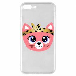 Чехол для iPhone 8 Plus Cat pink