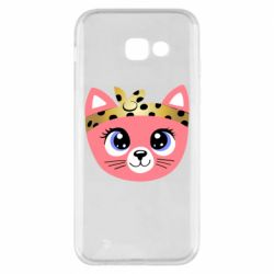 Чехол для Samsung A5 2017 Cat pink