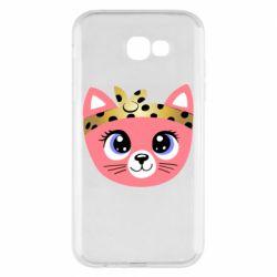 Чехол для Samsung A7 2017 Cat pink