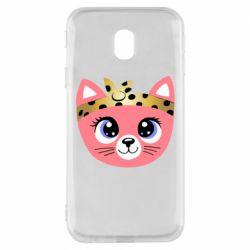 Чехол для Samsung J3 2017 Cat pink