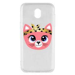 Чехол для Samsung J5 2017 Cat pink