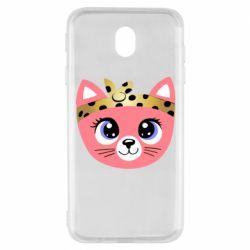 Чехол для Samsung J7 2017 Cat pink