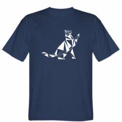 Чоловіча футболка Cat polygon