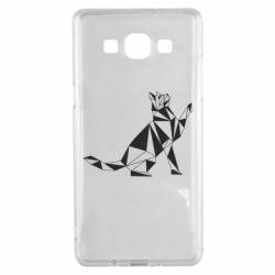 Чохол для Samsung A5 2015 Cat polygon