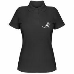 Жіноча футболка поло Cat polygon