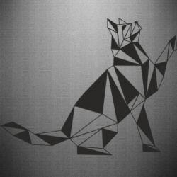 Наклейка Cat polygon