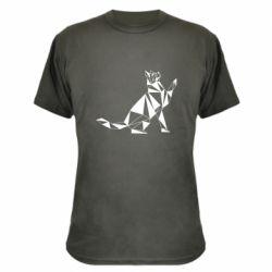 Камуфляжна футболка Cat polygon