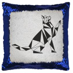 Подушка-хамелеон Cat polygon