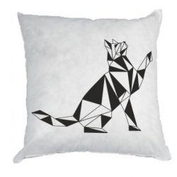 Подушка Cat polygon