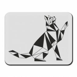 Килимок для миші Cat polygon