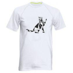 Чоловіча спортивна футболка Cat polygon