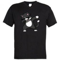 Чоловіча футболка з V-подібним вирізом Cat SWAG