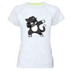 Жіноча спортивна футболка Cat SWAG