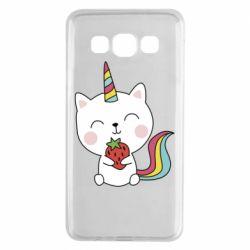 Чохол для Samsung A3 2015 Cat unicorn and strawberries