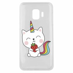 Чохол для Samsung J2 Core Cat unicorn and strawberries