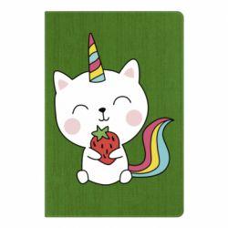 Блокнот А5 Cat unicorn and strawberries