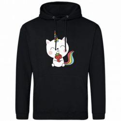 Чоловіча толстовка Cat unicorn and strawberries