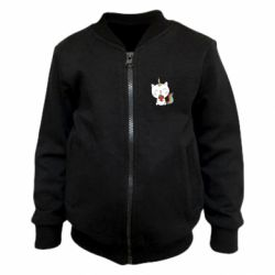 Дитячий бомбер Cat unicorn and strawberries