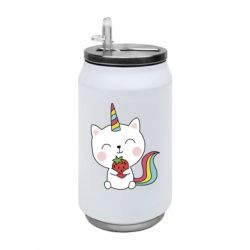 Термобанка 350ml Cat unicorn and strawberries