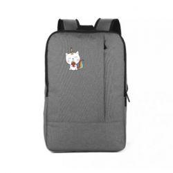 Рюкзак для ноутбука Cat unicorn and strawberries