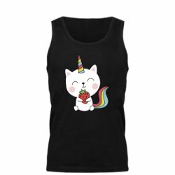 Майка чоловіча Cat unicorn and strawberries