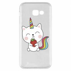 Чохол для Samsung A5 2017 Cat unicorn and strawberries