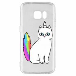 Чехол для Samsung S7 Cat Unicorn