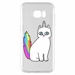 Чехол для Samsung S7 EDGE Cat Unicorn