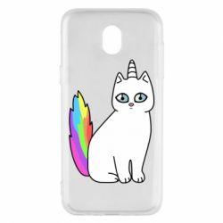Чехол для Samsung J5 2017 Cat Unicorn