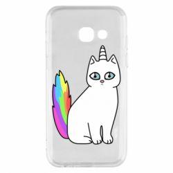 Чехол для Samsung A3 2017 Cat Unicorn