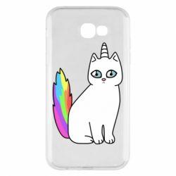Чехол для Samsung A7 2017 Cat Unicorn