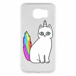 Чехол для Samsung S6 Cat Unicorn