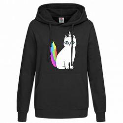 Женская толстовка Cat Unicorn