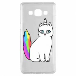 Чехол для Samsung A5 2015 Cat Unicorn
