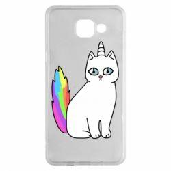 Чехол для Samsung A5 2016 Cat Unicorn