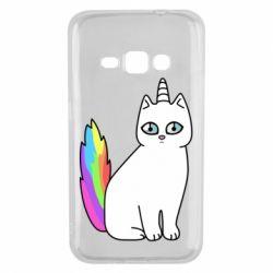 Чехол для Samsung J1 2016 Cat Unicorn