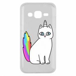 Чехол для Samsung J2 2015 Cat Unicorn