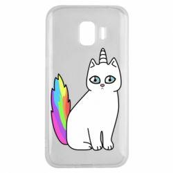 Чехол для Samsung J2 2018 Cat Unicorn